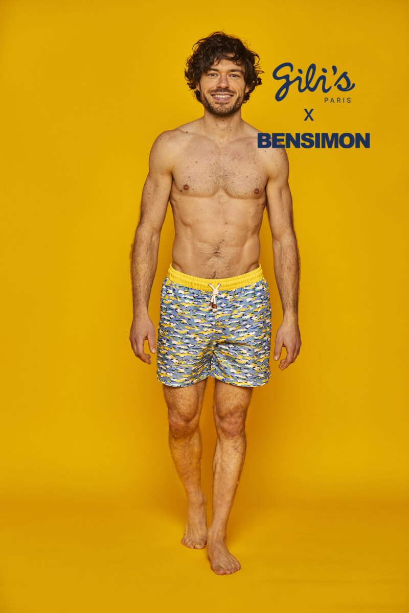 Man wearing a BENSIMON swimsuit with elasticated belt